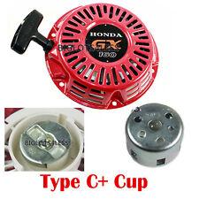 PULL START RECOIL TYP C W/ CUP FOR HONDA GX120 GX160 GX200 5.5HP 6.5HP GENERATOR