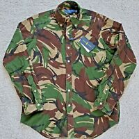 Mens Polo Ralph Lauren Military Army Camo Classic Fit Corduroy X-Large Shirt
