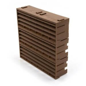 """NEW AIR 9203 - 9"""" x 9"""" - Brown - Air Brick UK SELLER, FREEPOST"""