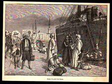 1881  --  EGYPTE   DANS LE PORT DE SUEZ   3N525