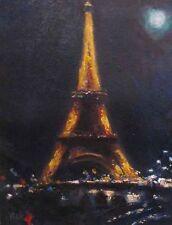 """""""Paris Eiffel Tower"""" Vitaly Mikhailov 13""""x10"""" Giclee on Canvas  Paris Landmark"""