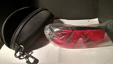 RED HDE LASER EYE PROTECTION SAFETY GLASSES for GREEN & BLUE LASERS w/Case