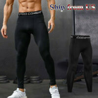 Man's Compression Base Layer Workout Leggings Gym Sports Running Training Pants