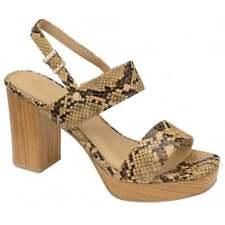 Ravel Parker Designer Summer Dress Platform Heeled Sandals Snake Print UK 7