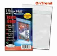 100 x Ultra Pro Team Bags Resealable Card Set Sleeve Toploader 100ct in Pack