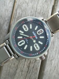 Adidas Big Unisex Watch...Looking Good And Keeping Good Time...Stretch Bracelet