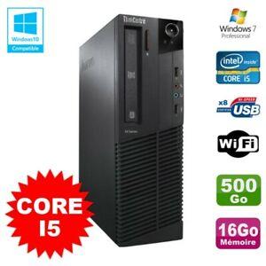 PC Lenovo M91p 7005 SFF Intel Core I5 3,1Ghz 16Go Disque 500Go WIFI W7 Pro