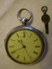 More details for antique silver russell of liverpool pocket watch rare up/down indicator ch 1892.