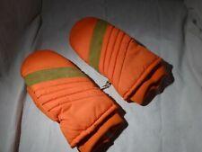 Vintage Orange 50% down Hunting Nylon MITTS mittens Warm