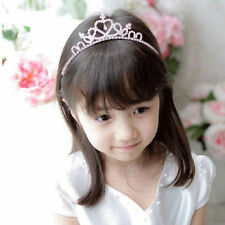 Girls Crystal Rhinestone Crown Tiara Headband Hair Band Headwear Wedding Party