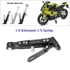 Motorcycle Side Tripod Holder Bracket Fall Protect Foot KickStand Heavy Load Kit