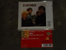 U2 October Japan CD