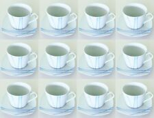 2 X JUEGO DE 6 TAZAS DE CAFE/TE DE 23 cl CON PLATOS DELLACASA