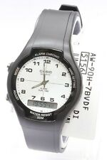 AW-90H-7B Black White Casio Watch Standard Unisex Dual Time Resin Band Brand-New