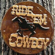 Ride Em 8, plaque, stepping stone, plastic mold, concrete mold, cement, plaster