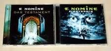 2 CD SET - E NOMINE - DAS TESTAMENT & FINSTERNIS - NEUWERTIG