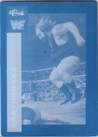 WWE Earthquake 1990 Classic Printing Plate Card WWF C
