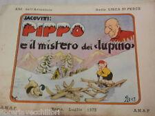 PIPPO E IL MISTERO DEI LUPINO Jacovitti ANAF Lisca di pesce 1973 fumetto libro