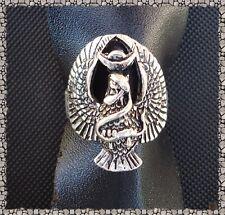 Bague Totem Aigle Avec Serpent  Argent Du Tibet Unisexe Taille 59_60