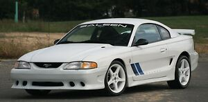 Mustang Windshield Banner 89-98 WHITE