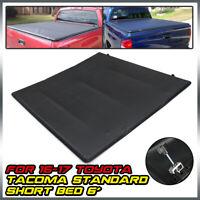 For 2016-2019 Toyota Tacoma 6 Ft Bed Soft Top Folding Tri-Fold Tonneau Cover