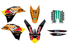 KIT GRAFICHE KTM EXC 08 011 SX 07 10 RED BULL CRYSTAL 5 DECIMI