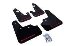 RallyArmor Black Mud Flaps (Red Logo) for 07-17 Mitsubishi Lancer