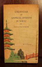 Calendar of Annual Events in Tokyo Japan S. Uenoda 1931 Advertisements Travel