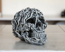 Erotic Skull Stone Finish Hand-Painted Superb Detail Witchcraft Orgy Home Decor