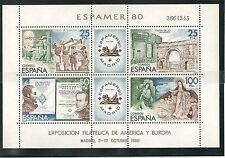 ESPAÑA 1980 MNH ** DISCOVERY AMERICA MUSIC PHILATELIC EXPOSITION ESPAMER 80