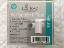 EzFlow Nail Systems, Perfection II Tips, Natural, Size # 6, 50 Count