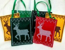 Reindeer Ornaments - Embroidered Ornaments - Reindeer Decorations