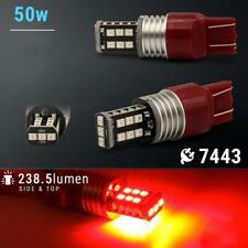 7443 Red LED Strobe Blinking Brake Tail Light/Parking Bulbs