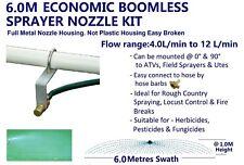 ECONOMIC 6M SWATH BOOMLESS FLAT SPRAYER NOZZLE KIT 4.0L WEED SPOT SPRAY TANK