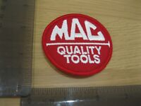 MAC TOOLS RED ROUND INDUSTRIAL TRUCK PATCH BADGE VINTAGE 1980S SEW OR IRON ON BD