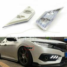 Pair For 16-19 Honda Civic LH+RH Front Bumper Reflector Side Marker Light Lamp