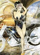 CARTE POSTALE PIN UP DENIS SIRE  152mm x 107mm
