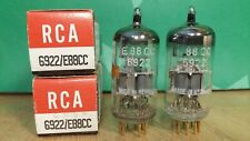 Pair of Siemens (RCA label) 6922 E88CC NOS NIB Gold Pin Vacuum Tubes