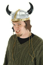 Viking Helmet Gold & Silver Metallic Fabric Horned Costume Helmet OS