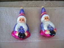 "Christopher Radko ""Elfin Magic"" Christmas Ornaments - Set Of 2"