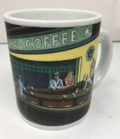 Vintage Starbucks Coffee Mug Cup Chaleur Diner Scene D. Burrows