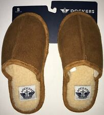 Dockers Memory Foam Slippers Boy's S 11-12 Brown New With Tags - Free Shipping