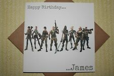 Handmade Personalised Fortnite Birthday Card Son Grandson Brother Father