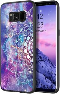 Hülle Samsung Galaxy S8 Mandala Leuchtet Nachts Schutzhülle Slim Kunstleder