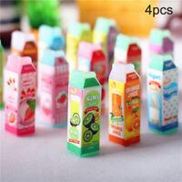 4Pcs 1:12 Dollhouse Miniature Strawberry Juice Cups Doll Kitchen Accessories