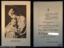 ESTAMPA RELIGIOSA SANTOS EJERCICIOS PARROQUIA SANTA CRUZ CADIZ 1964   CC138