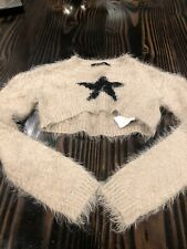 Jakioo monnalisa cropped sweater Size 8 Black Star Excellent Condition Free Ship