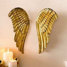 "Wand-Deko-Flügel ""Goldschwingen""  goldene Engelsflügel, 2er-Set"