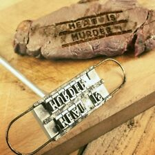 BBQ BARBECUE BRANDING IRON TOOL MEAT STEAK BURGER 55 CHANGEABLE LETTERS BBQ