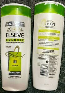 L'OREAL ELSEVE ENERGIE PURIFYING SHAMPOO FOR NORMAL HAIR 400ML **BRAND NEW**
